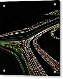 Acrylic Print featuring the digital art L.a.freeways by Irma BACKELANT GALLERIES