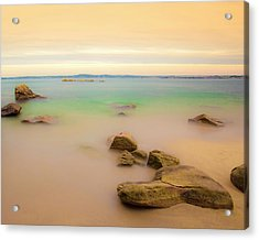 Lagon Breton Acrylic Print by Philippe Doucet