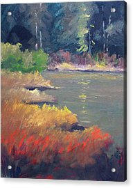 Acrylic Print featuring the painting Lagoon by Nancy Merkle