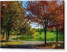Lagoon Park In Montreal Acrylic Print