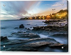 Acrylic Print featuring the photograph Laguna Beach After Dark by Cliff Wassmann