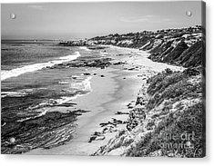 Laguna Beach Ca Black And White Photography Acrylic Print