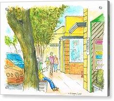 Laguna-beach-california-street Acrylic Print by Carlos G Groppa