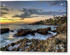 Acrylic Print featuring the photograph Laguna Beach Coastline by Eddie Yerkish