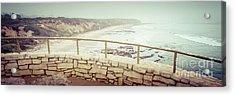 Laguna Beach Crystal Cove Overlook Panorama Acrylic Print by Paul Velgos