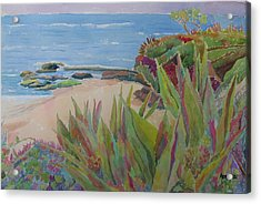 Laguna Beach Landscape Acrylic Print by Azor Martinez