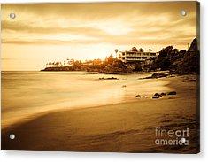 Laguna Beach Sunset At Shaw's Cove Acrylic Print by Paul Velgos