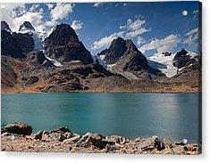 Laguna Chiar Khota In Condoriri Mountains Acrylic Print