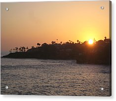 Laguna Sunset Acrylic Print by Renee Antos