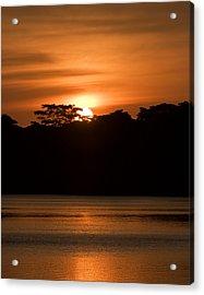 Acrylic Print featuring the photograph Laguna Victoria Sunset by Ron Dubin