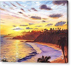 Laguna Village Sunset Acrylic Print by Steve Simon