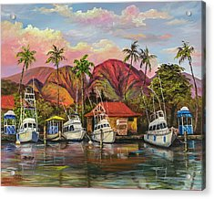 Lahaina Harbor Sunset Acrylic Print
