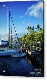 Acrylic Print featuring the photograph Lahaina Marina Blue Twilight by Sharon Mau