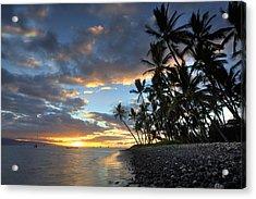 Lahaina Sunset Acrylic Print by James Roemmling