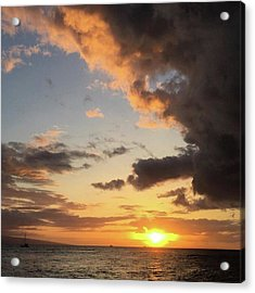 Lahaina Sunset! Love Friday Nights! Acrylic Print