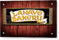 Lahave Bakery Sign Acrylic Print by Carolyn Derstine