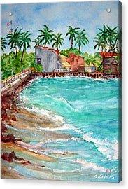 Lahina Bay Maui Acrylic Print by Cheryl Ehlers