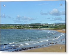 Acrylic Print featuring the photograph Lahinch Beach by Terence Davis