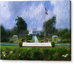 Laie Hawaii Temple Acrylic Print