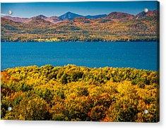 Lak Champlain In Autumn Acrylic Print by Robert Davis