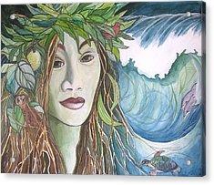 Laka Acrylic Print by Kimberly Kirk