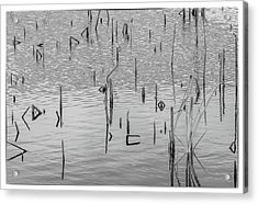 Acrylic Print featuring the photograph Lake Abstract by Carolyn Dalessandro