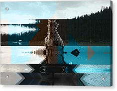 Lake And Beauty Ftg0002 Acrylic Print by Feel The Glitch
