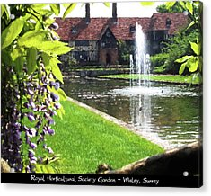 Lake And Fountain At Rhs Wisley Acrylic Print