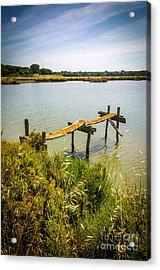 Lake And Pier Acrylic Print by Carlos Caetano
