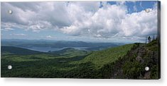 Lake And Ridges Acrylic Print by Joshua House