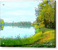 Lake And Woods Acrylic Print
