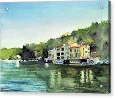 Lake Ann Reston Va Acrylic Print by Paul Temple