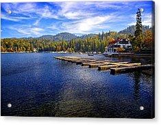 Lake Arrowhead California Acrylic Print by Joe Urbz