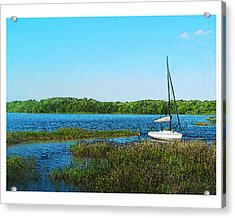 Lake At Hamony Fl Acrylic Print by Deborah Hildinger