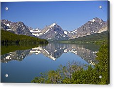 Lake At Many Glacier Acrylic Print by Richard Steinberger