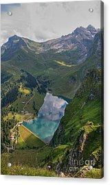 Lake Bannalp Acrylic Print by Caroline Pirskanen