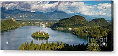 Acrylic Print featuring the photograph Lake Bled Pano by Brian Jannsen
