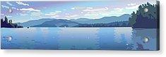 Lake Blues Acrylic Print by Marian Federspiel