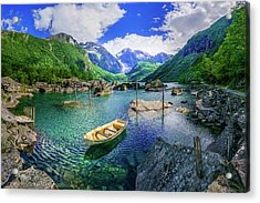 Acrylic Print featuring the photograph Lake Bondhusvatnet by Dmytro Korol