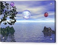 Lake Bubble Planet Acrylic Print