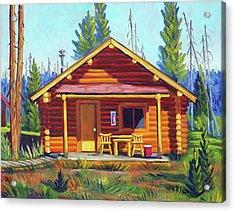 Lake Cabin Acrylic Print
