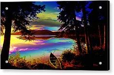 Lake Canoe Acrylic Print