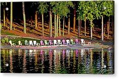 Lake Chairs Acrylic Print