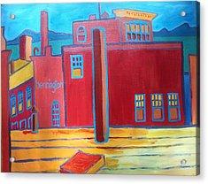 Lake Champlain Rooftop View Acrylic Print by Debra Bretton Robinson