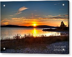 Lake Charlevoix Sunset Acrylic Print by Larry Carr