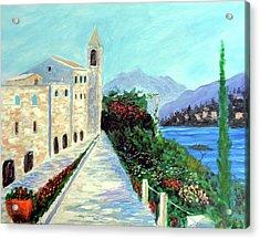 Lake Como Colors  Acrylic Print by Larry Cirigliano