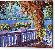 Lake Como Acrylic Print by David Lloyd Glover