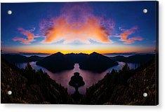 Lake Crescent Reflection Acrylic Print by Pelo Blanco Photo