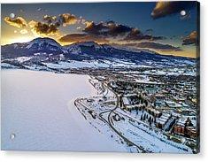 Lake Dillon Sunset Acrylic Print by Sebastian Musial