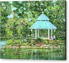 Lake Ella Gazebo Acrylic Print